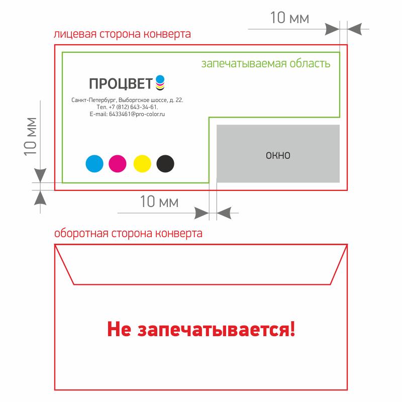 Схема запечатывания конверта
